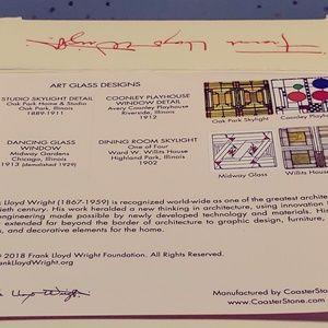 Frank Lloyd Wright Foundation Accents - Frank Lloyd Wright 4 piece Coaster Set